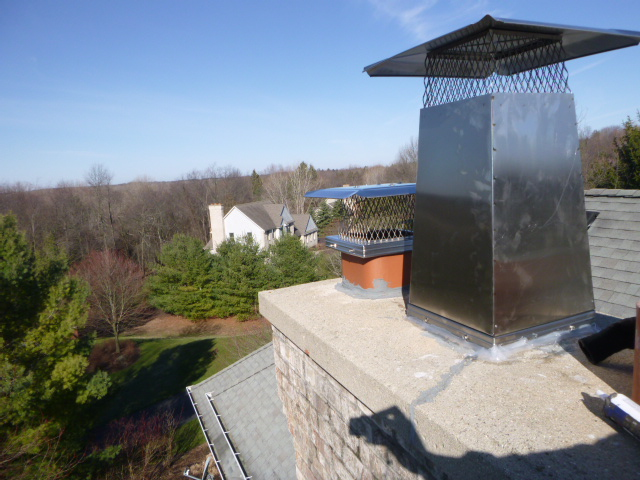 After Chimney flue stretcher