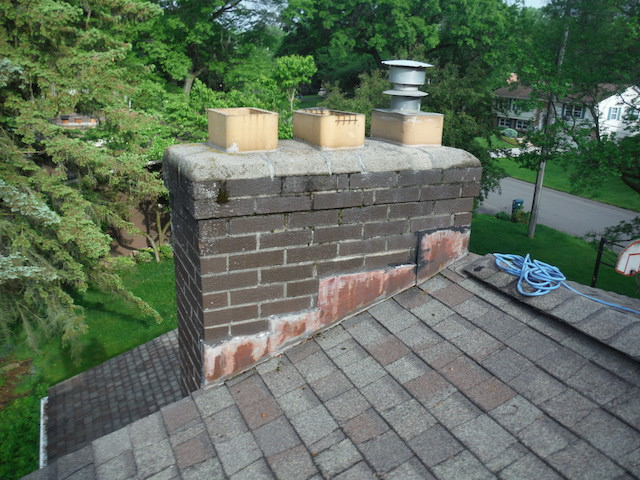 chimney before caps on flues